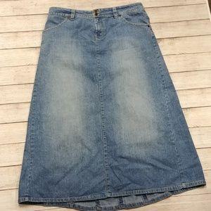 Gloria Vanderbilt Long Denim Skirt